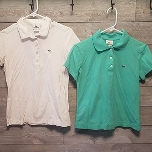 2 Lacoste short sleeve polos